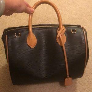 """Louis Vuitton Bags - LOUIS VUITTON AUTHENTIC EPI BLACK """"DOC"""" SATCHEL"""
